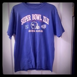 Reebok Superbowl XLII NY Giants Sports Tshirt